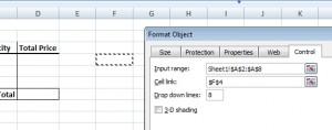 Combo box Format Control