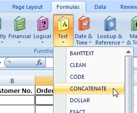 how to add two strings in excel