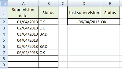 Last filled cell in Excel