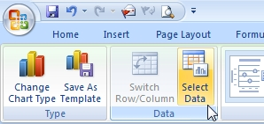 Select data ribbon