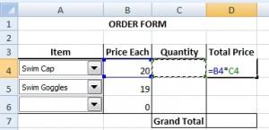 Total price formula
