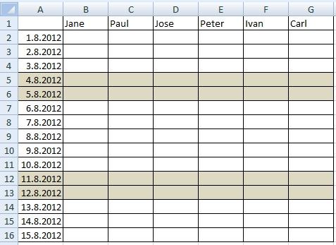 Attendance calendar2