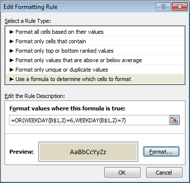 New Formatting Rule