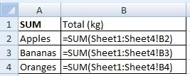 SUM with formulas