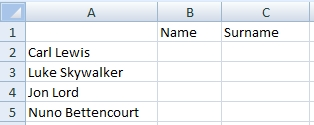 Table - Text to columns