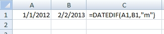 datedif syntax
